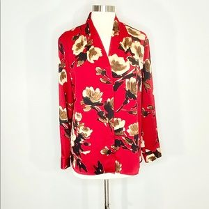 Chico's V-Neck Button Front Top/jacket size 1 (8)